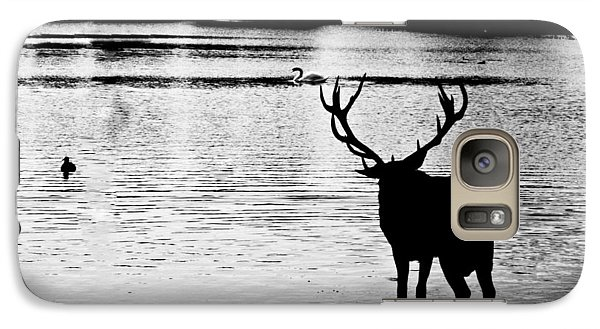 Galaxy Case featuring the photograph Cooling Off Deer by Maj Seda