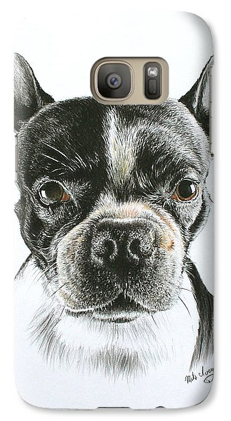 Galaxy Case featuring the drawing Cooper by Mike Ivey