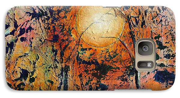 Galaxy Case featuring the painting Copper Moon by Dan Whittemore