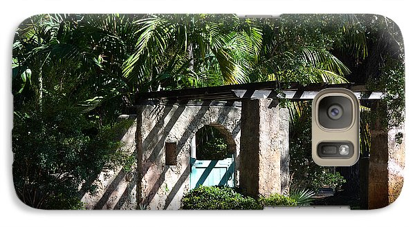 Galaxy Case featuring the photograph Coral Gables Gate by Ed Gleichman