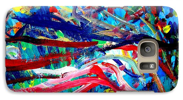Galaxy Case featuring the painting Coral Street by Amy Sorrell
