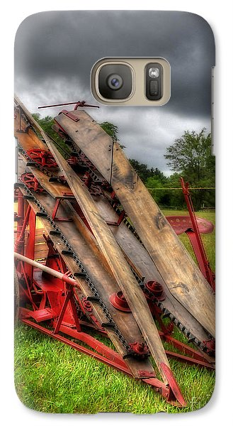 Galaxy Case featuring the photograph Corn Binder by Trey Foerster