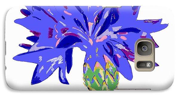 Galaxy Case featuring the digital art Cornflower by Barbara Moignard