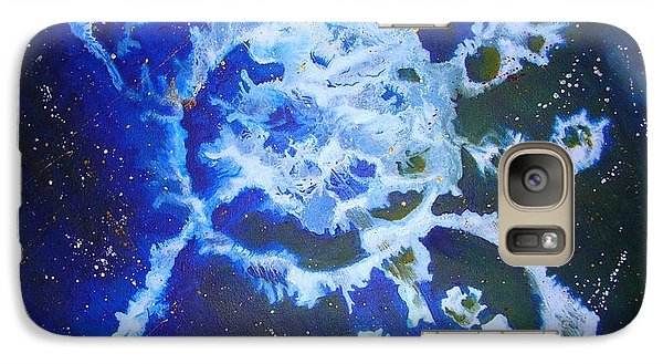 Galaxy Case featuring the painting Cosmic Release by Mary Kay Holladay