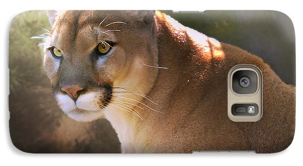 Galaxy Case featuring the digital art Cougar by Mary Almond