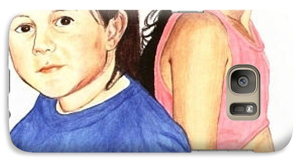 Galaxy Case featuring the painting Cousins by Ana Tirolese