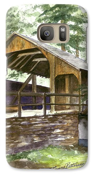 Galaxy Case featuring the painting Covered Bridge At Knoebels  by Nancy Patterson