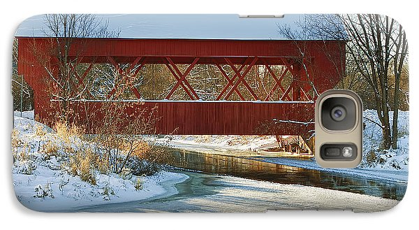 Galaxy Case featuring the photograph Covered Bridge by Eunice Gibb