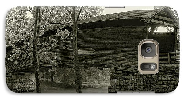Galaxy Case featuring the photograph Covered Bridge by Mary Almond