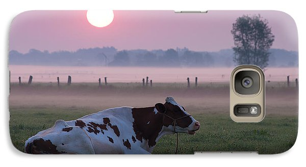 Galaxy Case featuring the photograph Cow In Meadow by Hans Engbers