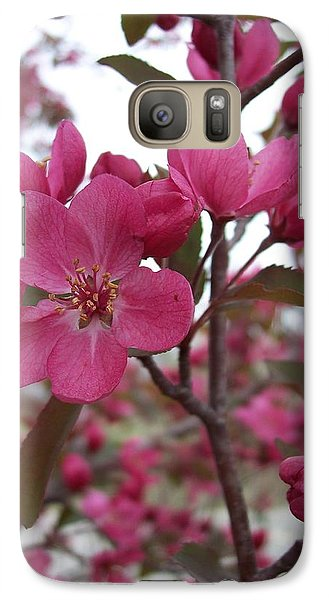 Galaxy Case featuring the photograph Crabapple Pink by Rebecca Overton