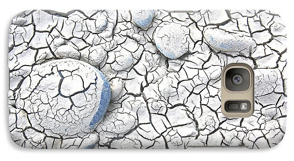 Galaxy Case featuring the photograph Cracked Earth by Nareeta Martin