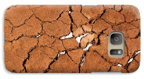 Galaxy Case featuring the photograph Cracked Red Soil  by Les Palenik