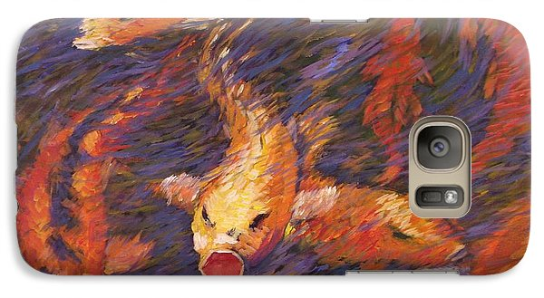 Galaxy Case featuring the painting Crazed Clear Creek Koi by Charles Munn
