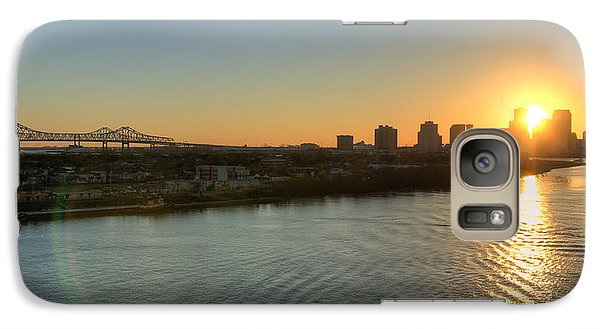 Galaxy Case featuring the photograph Crescent City Sunset by Ray Devlin