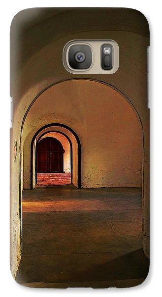 Galaxy Case featuring the photograph Cristobal Corridor by Deborah Smith