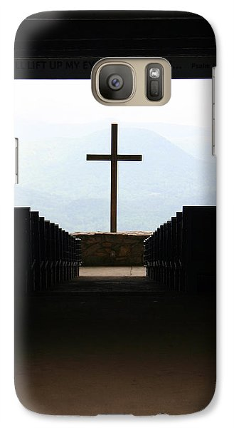Galaxy Case featuring the photograph Cross 1 by Kelly Hazel