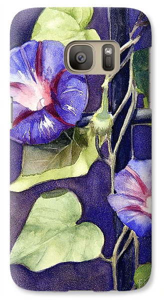 Galaxy Case featuring the painting Cross And Glory by Bonnie Rinier