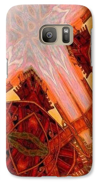 Galaxy Case featuring the mixed media Cross Nine Eleven Aftershock  by Ray Tapajna