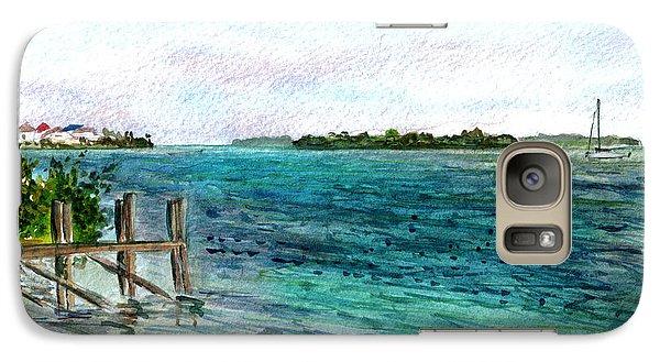 Galaxy Case featuring the painting Cudjoe Bay by Clara Sue Beym