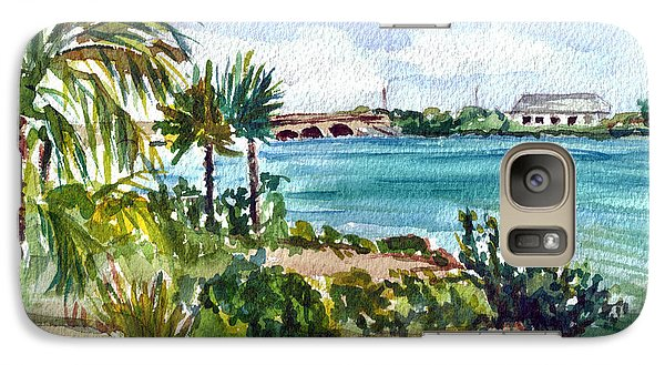 Galaxy Case featuring the painting Cudjoe Key Bridge by Clara Sue Beym