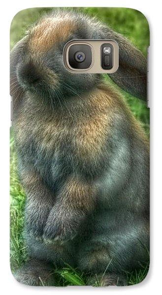 Galaxy Case featuring the photograph Curious Bunny by Tyra  OBryant