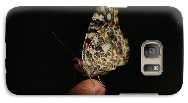 Galaxy Case featuring the photograph Curious Butterfly by Tam Ryan