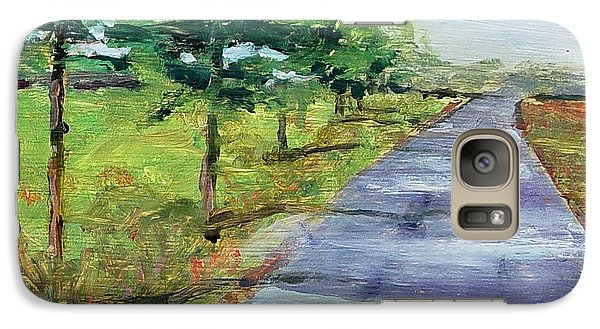 Galaxy Case featuring the painting Cypress Lane by Carol Berning