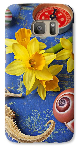 Daffodils And Seahorse Galaxy S7 Case