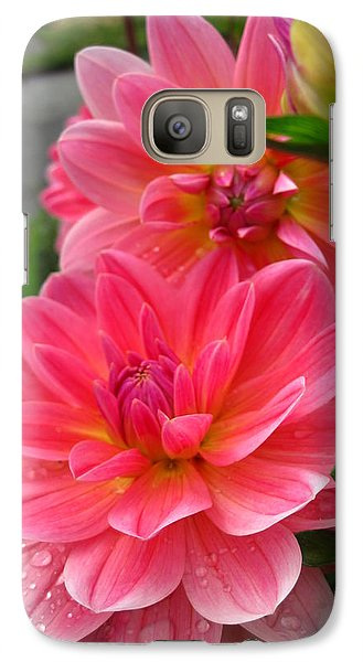 Galaxy Case featuring the photograph Dahlia Dew by Cheryl Perin