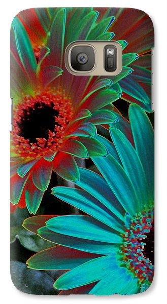 Galaxy Case featuring the photograph Daisies From Another Dimension by Rory Sagner