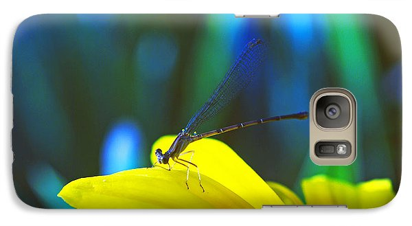 Galaxy Case featuring the photograph Daisy And Dragonfly by Kay Lovingood