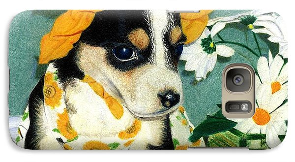 Galaxy Case featuring the drawing Daisy-mae Dawg by Ana Tirolese