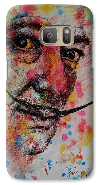 Galaxy Case featuring the painting Dali by Lynn Hughes