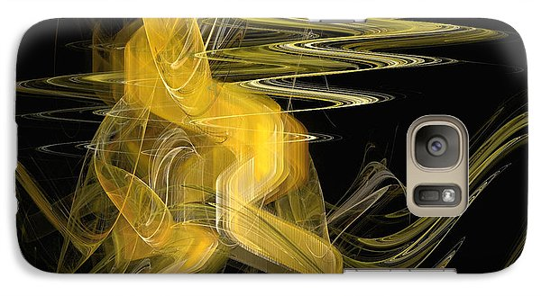 Galaxy Case featuring the digital art Dance Of Waves by Sipo Liimatainen