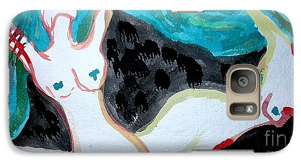 Galaxy Case featuring the painting Dancing by Amy Sorrell