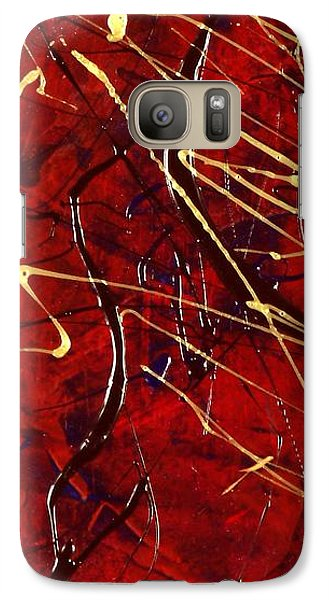 Galaxy Case featuring the painting Dancing Gold by Carolyn Repka