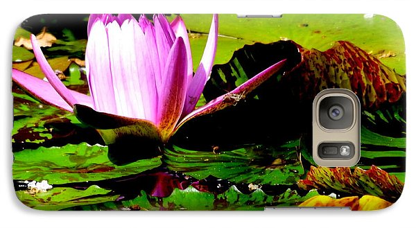Galaxy Case featuring the photograph Dancing Pink Water Lilly by Jodi Terracina