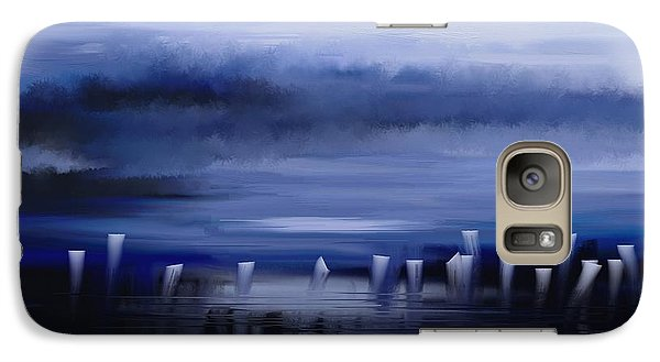 Galaxy Case featuring the painting Dark Mist by Eleonora Perlic