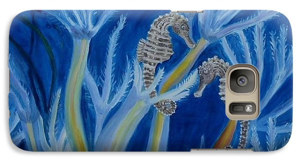 Galaxy Case featuring the painting Date Night On The Reef by Julie Brugh Riffey