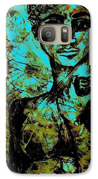 Galaxy Case featuring the painting David Ll by Amy Sorrell