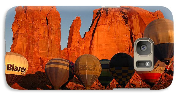 Galaxy Case featuring the photograph Dawn Flight In Monument Valley by Vivian Christopher