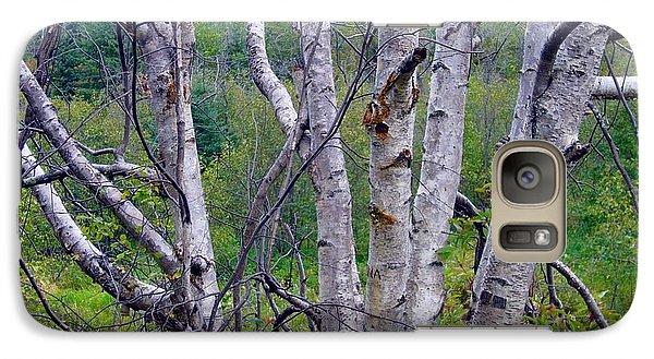 Galaxy Case featuring the photograph Dead Birch Tree by Jim Sauchyn