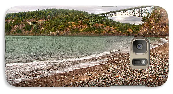 Galaxy Case featuring the photograph Deception Pass Washington by Artist and Photographer Laura Wrede