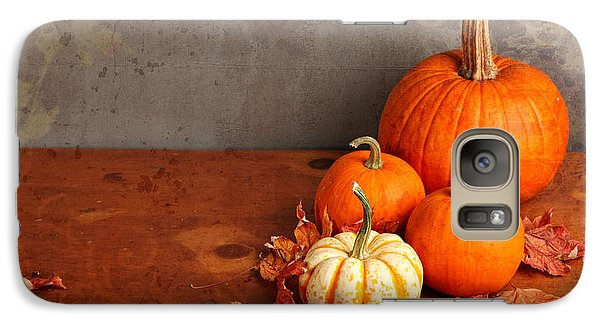 Galaxy Case featuring the photograph Decorative Fall Pumpkins by Verena Matthew