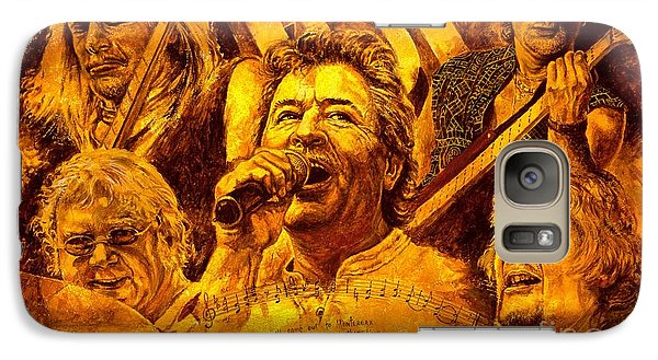 Galaxy Case featuring the painting Deep Purple In Rock by Igor Postash