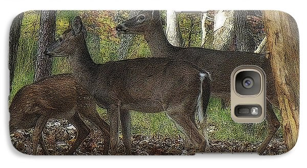 Galaxy Case featuring the photograph Deer In Forest by Lydia Holly
