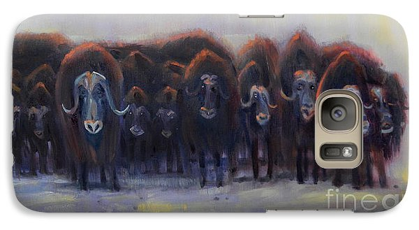 Galaxy Case featuring the painting Defensive Line by Donald Maier