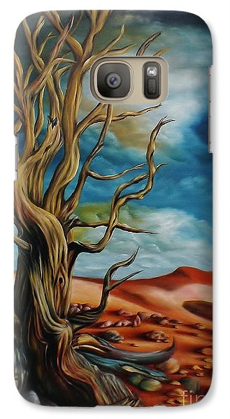 Galaxy Case featuring the painting Defying Time by Paula L