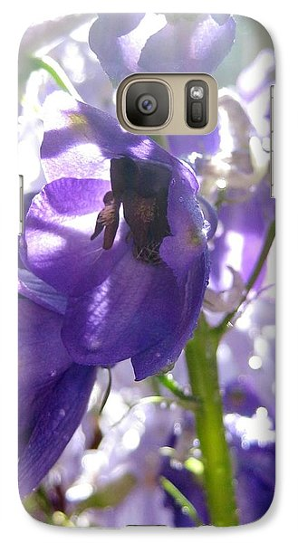 Galaxy Case featuring the photograph Delphiniums by Bonnie Goedecke